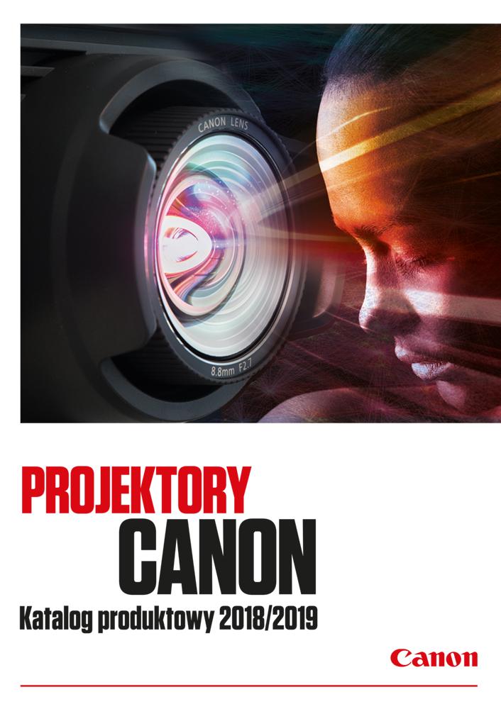 Katalog produktowy projektorów Canon CyfroweAV 2018/2019