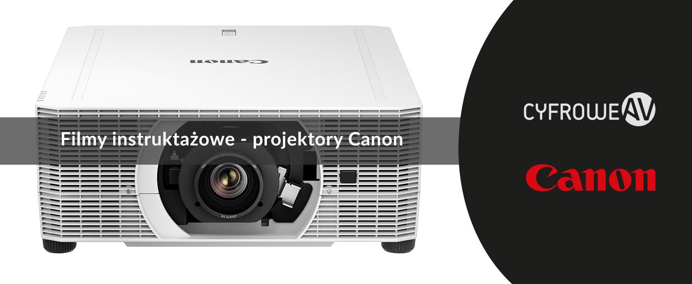 filmy instruktażowe - projektory Canon